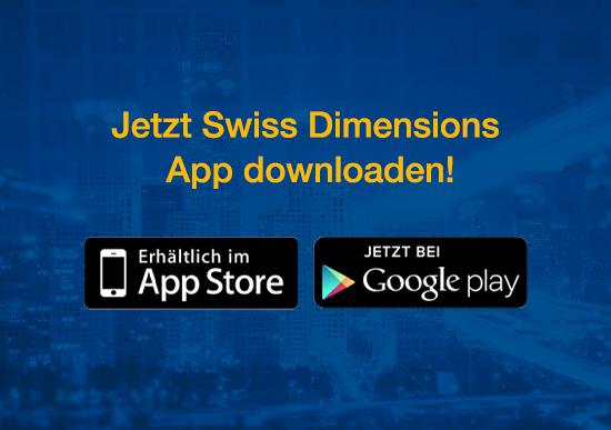 Ab sofort verfügbar: Die Swiss Dimensions App fürs Smartphone